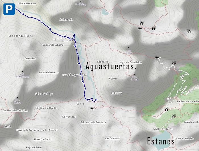 mapa Aguastuertas